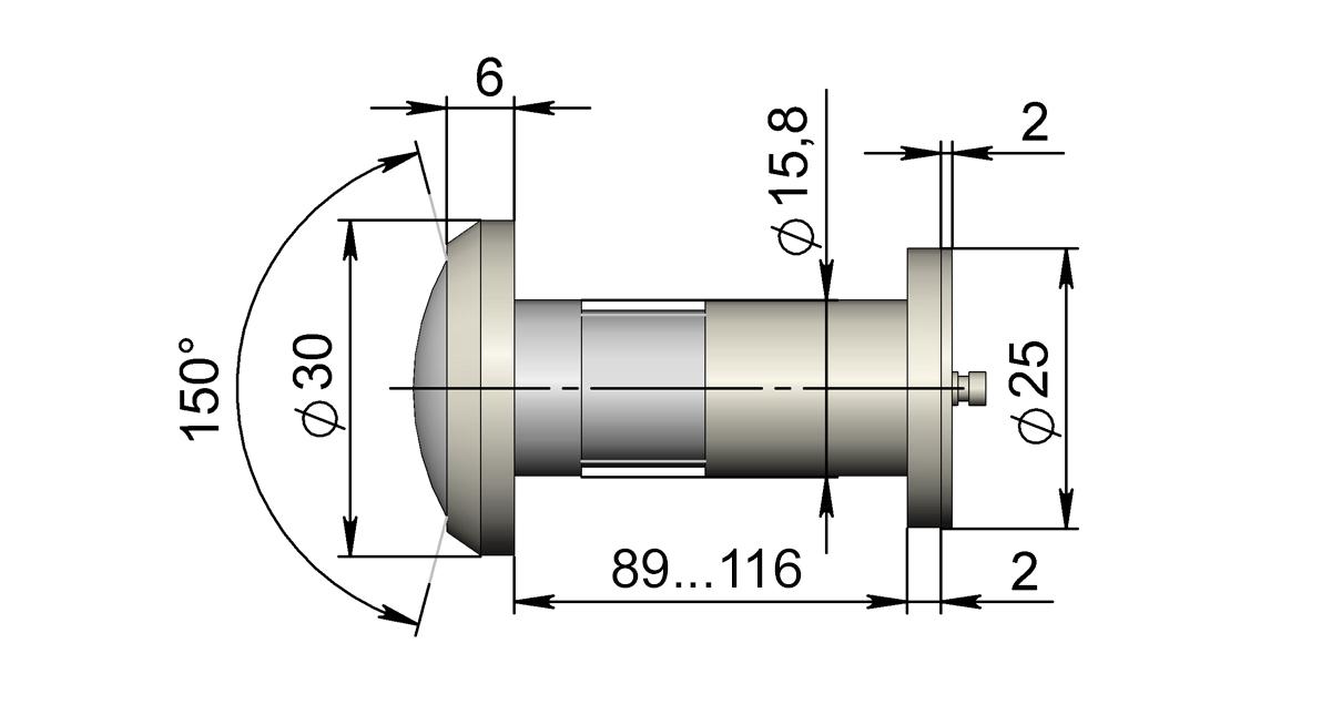 Глазок Т33Р - 39 рублей